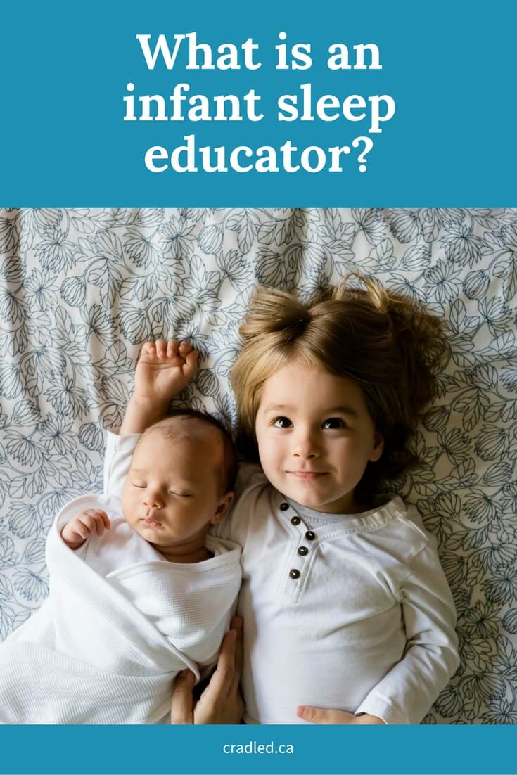What is an infant sleep educator?